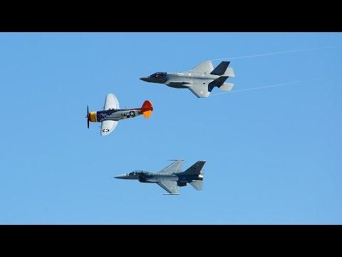Wings Over Houston 2016 - U.S. Air Force Heritage Flight