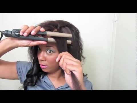 ☏ How To: Curl Your Hair/Weave with a Flat Iron