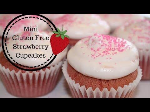 How To Make Mini Gluten Free Strawberry Cupcakes