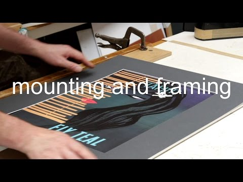 mounting and framing a print