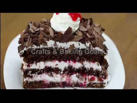 SIMPLE & EASY BLACK FOREST PASTRY RECIPE  crafts & baking goals  without oven