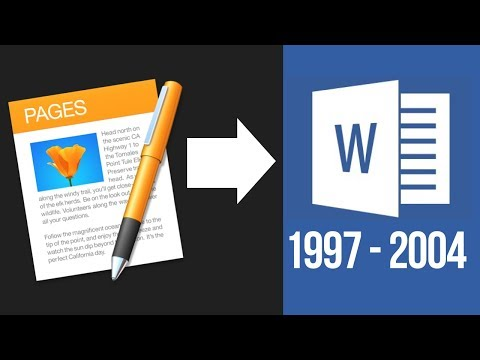 How to save Pages Document as Word 1997-2004 Compatible in Mac