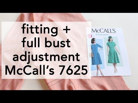 Fitting + Full Bust Adjustment Vintage McCall's 7625   Vintage on Tap
