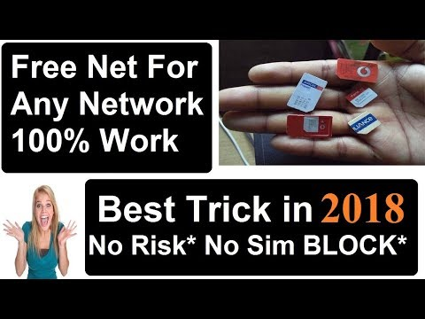 Free Internet For Lifetime Unlimited In Any Sim 2018 2G/ 3G/4G No Sim Data Charges