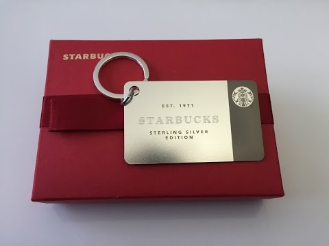 Unboxing/review of $200 Starbucks Sterling Silver Limited Edition Card keychain