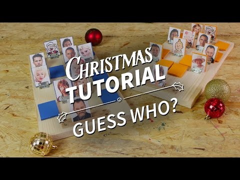 How To Make A Guess Who? Board Game - Christmas Homemade Gift Tutorial [ManoMano UK]