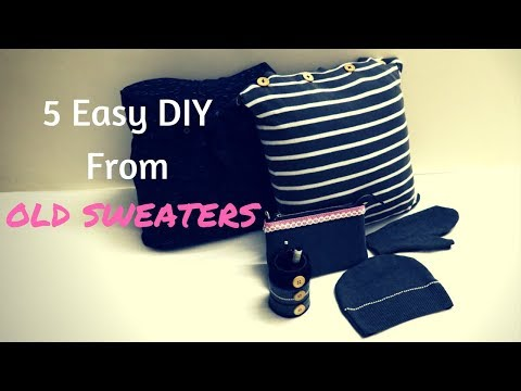 5 Easy DIY From Old Sweaters - How To Recycle Old Sweaters