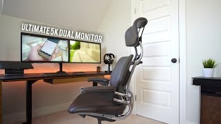 Ultimate Macbook Pro 5K Dual Monitor Desk Setup Tour