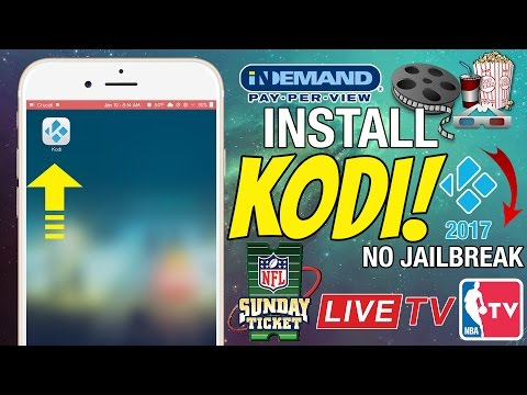 NEW Install KODI on ANY iPhone/iPad - Watch/Stream Live TV, Movies, PPV FREE! (NO JAILBREAK 2017)