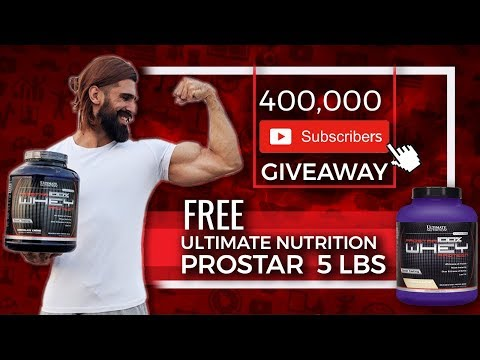 Win a FREE ULTIMATE NUTRITION PROSTAR (5lbs) | 4 LAKH SUBSCRIBERS GIVEAWAY