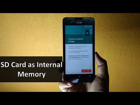 How to use SD memory card as Internal memory | Increase upto 256 GB 2018 | No Root