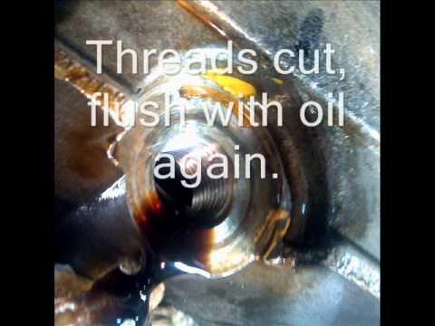 Oil Drain Pan Repair with Time-Sert
