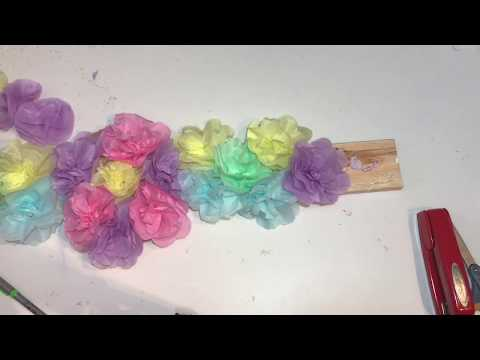 DIY Flower Centerpieces | How to make Tissue Paper Flowers (Easy)