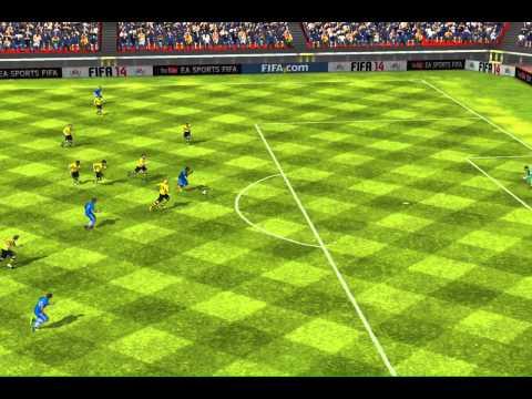 FIFA 14 iPad- Robinho's dribbling vs. Bor. Dortmund