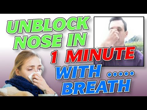 How to Unblock a Blocked Nose in 1 Min Fast (Easy Breathing Exercise Remedy)