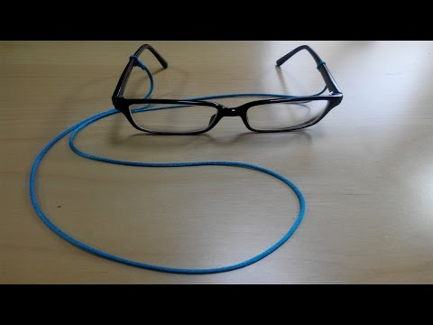 HOW TO MAKE GLASSES CHAIN IN UNDER 2 MINUTES! [NO RUBBER ENDS]