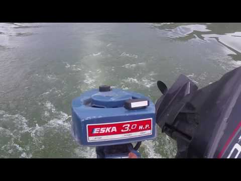 1970 SEARS ESKA 3HP OUTBOARD MOTOR WATER TEST