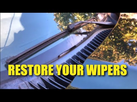Restore your windshield wipers (Easy Hack!)