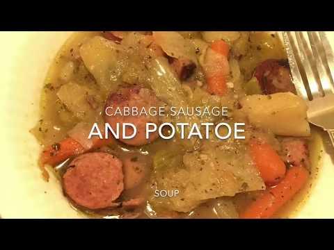 Cabbage,Sausage and Potatoe Soup