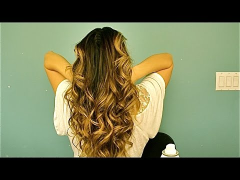 How to soft bohemian style curls