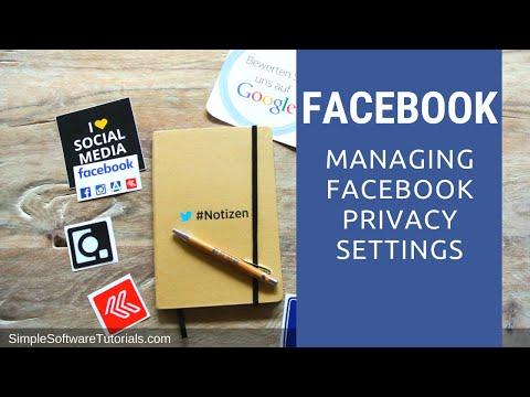 Managing Facebook Privacy Settings