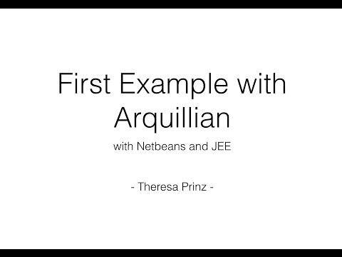 First Example of Arquillian with Netbeans and JEE