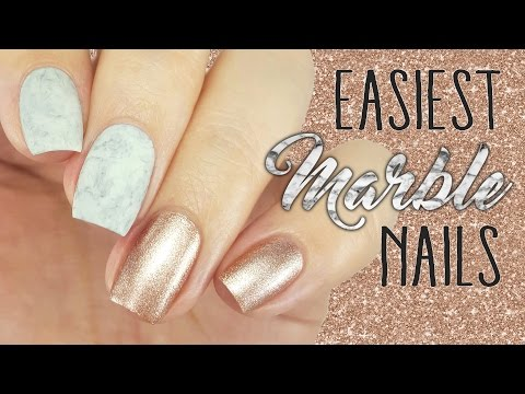 Easiest Marble Nails EVER!!