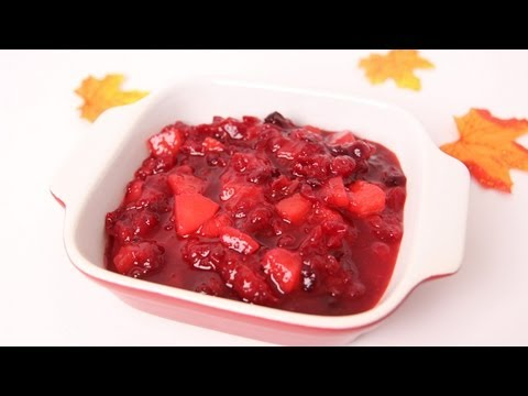 Pear Cranberry Sauce Recipe - Laura Vitale - Laura in the Kitchen Episode 481