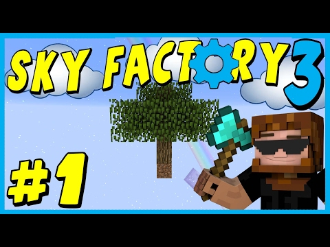 Data Play's - Sky Factory 3 - #1 - Just Me & My Wood!