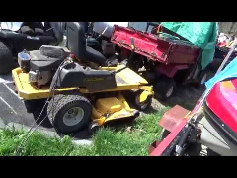 Cub Cadet RZT50, Zero Turn Mower, Spring cold start after 6month idle,