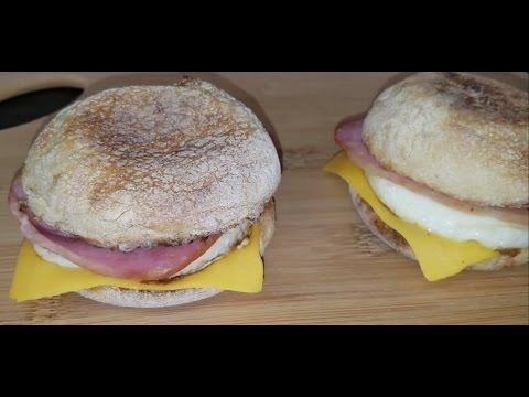 Homemade McDonald's Egg Mcmuffin