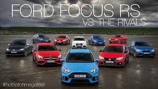 Ford Focus RS vs Honda Civic Type-R vs Audi RS3 vs Mercedes-AMG A45 & more: Hot Hatch Mega Test