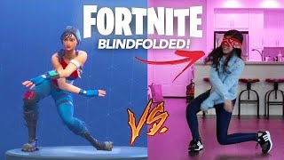 Fortnite Dance Challenge (Blindfolded!) | Ranz and Niana