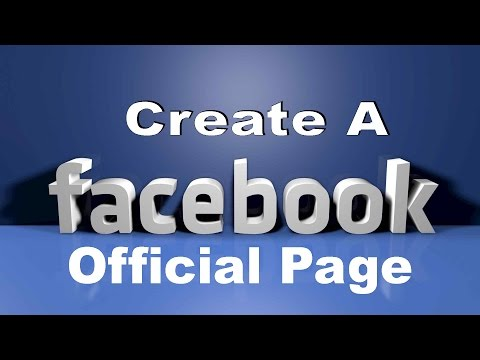 Create A Facebook Official Page