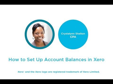 How to Set Up Account Balances in Xero