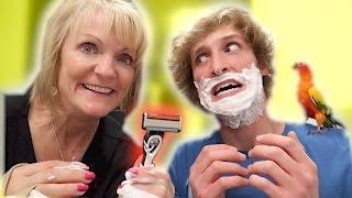 I LET MY MOM SHAVE MY FACE! (Bad Idea)