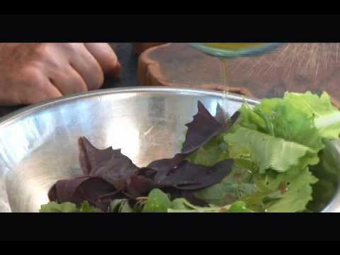 Hollyhock Salad on Cortes Island, BC