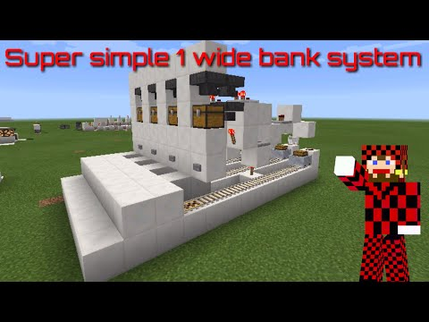 Minecraft pe 1.0 Redstone tutorial how to make a working minecraft bank atm system 1 wide Fixed vid