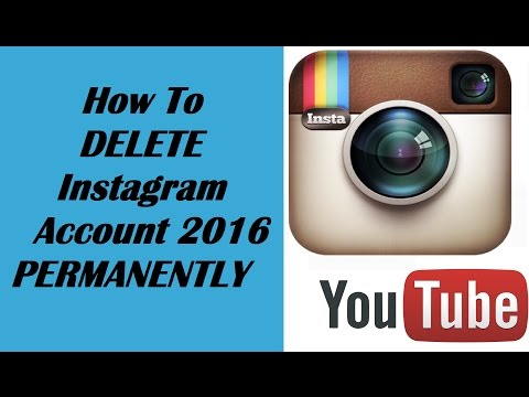 How To DELETE Instagram Account PERMANENTLY 2016 | delete my instagram account permanently