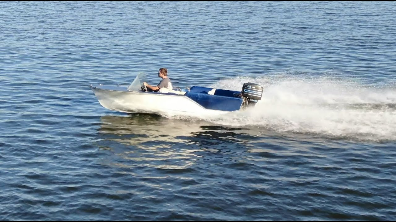 Fixing a boat motor and boating
