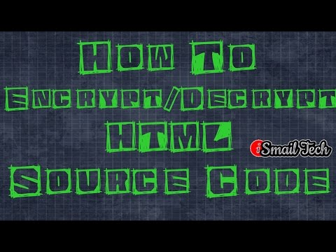 How To Encrypt/Decrypt HTML Page Source Code - 2017