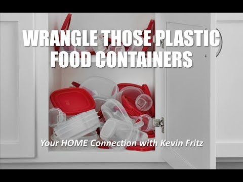Organize Plastic Food Containers and Find the Lids!