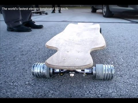 Fastest speed record on an electric longboard set at 102.9 km/h