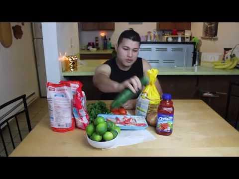 How to make ceviche de camaron shrimp cocktail