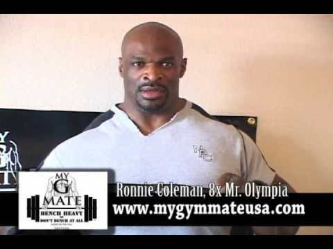 My gym mate (portable bench spotter) Ronnie Coleman