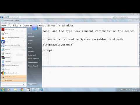 How To Fix Command Prompt in Windows 7