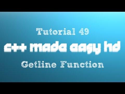 C++ Made Easy HD Tutorial 49 - Getline Function