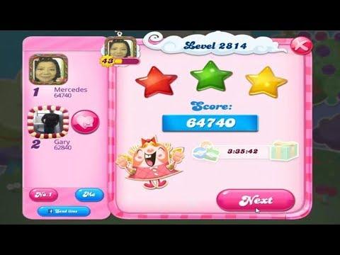 Candy Crush Saga 2814   |   No Boosters   |   3-Star ⭐⭐⭐