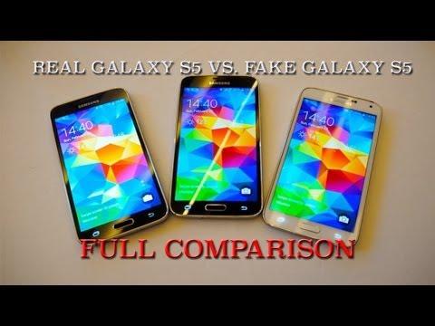 Real vs. Fake Samsung Galaxy S5