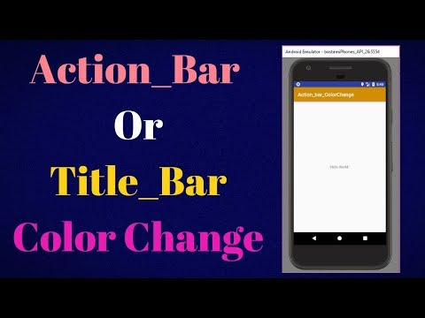 how to change action bar color in android studio
